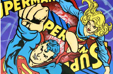 SEEN, 'Superman & Supergirl', 2014, Eternity Gallery