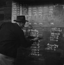 , 'SD&AE Railroad Dutch Brantz roundhouse foreman, Calexico,' 1953, Robert Mann Gallery