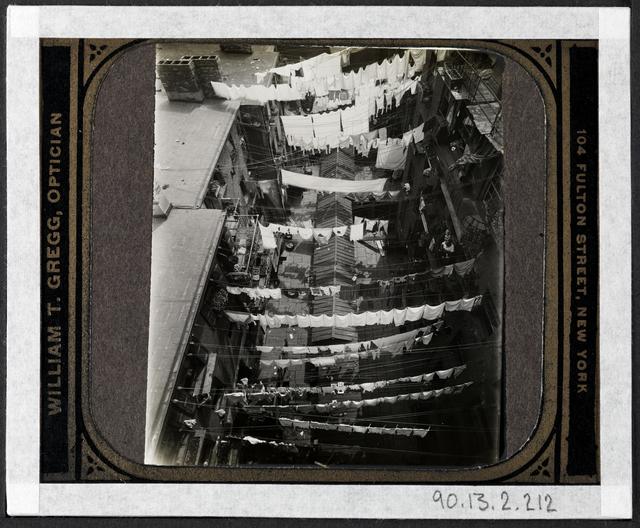 Jacob A. Riis, '[Thompson Street, bird's eye view.]', ca. 1895, Museum of the City of New York