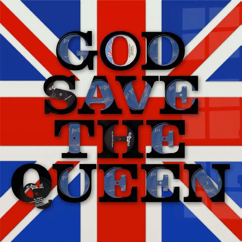 , 'God Save the Queen Vinyl Words,' , Gallery Different