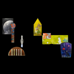 "Massive eight-piece wall installation, ""Light / Icelandic Travels,"" Omaha, NE"