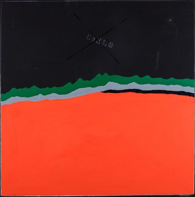 Franco Angeli, 'Enigmatic landscap', 1954/'55, Mixed Media, Mixed media on canvas, Finarte