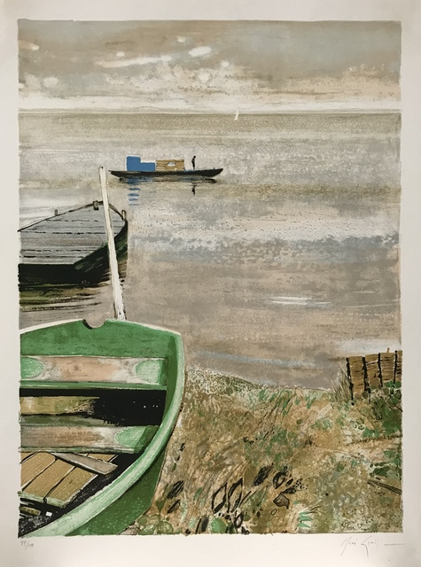 Rene Genis, 'La barque verte', 1980, Print, Limited edition French lithograph, Artioli Findlay