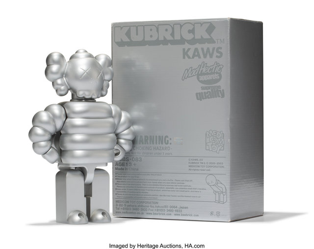 KAWS X realMad Hectic, 'Kubrick 400% (Silver)', 2003, Heritage Auctions