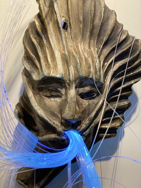 Trish Classe Gianakis, 'Oral Fixation', 2018, Sculpture, Raku Ceramic, fiber optic wire, SHIM Art Network