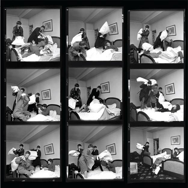 , 'The Beatles Pillow Fight (Contact Sheet), Paris,' 1964, Staley-Wise Gallery