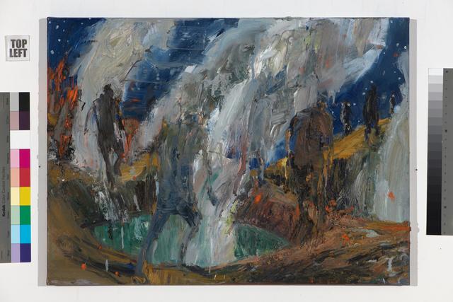 Euan Macleod, 'Advancing below night sky ', 2017, Bowen Galleries