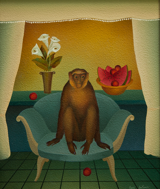 , 'Monkey on Blue Couch,' 2018, ART MORA