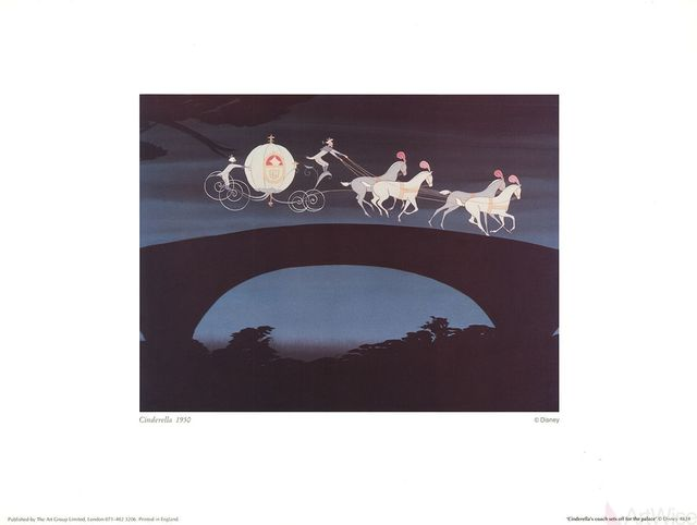 , 'Walt Disney's Cinderella: Cinderella's Coach sets off for the Palace,' 1995, ArtWise