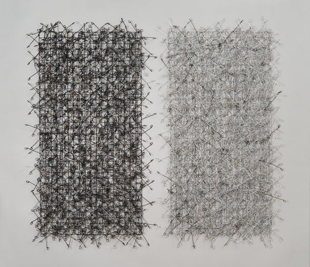 , 'Circle Grid Diptych,' 2015, Duane Reed Gallery