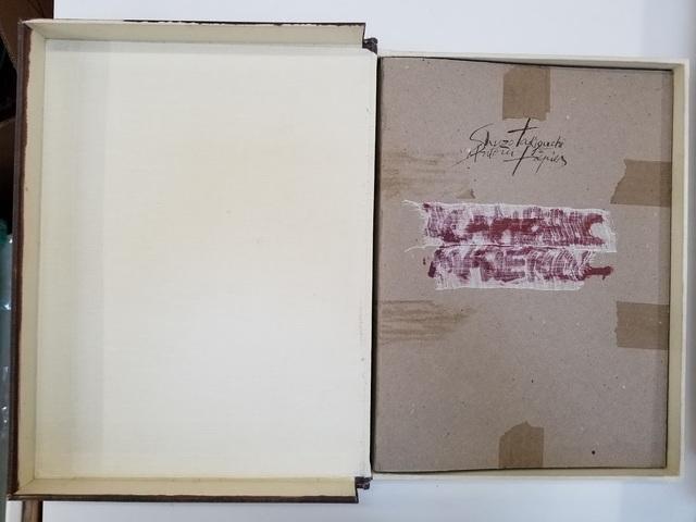 Antoni Tàpies, 'SIGNED Shuzo Takiguchi and Antoni Tapies Llambrec Material PORTFOLIO original', 1975, Tranter-Sinni Gallery