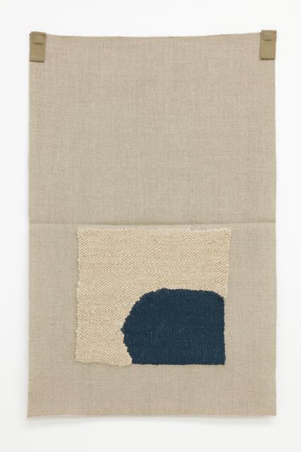 , 'Unbleached handspun, dark blue,' 2015, Galerie Nordenhake