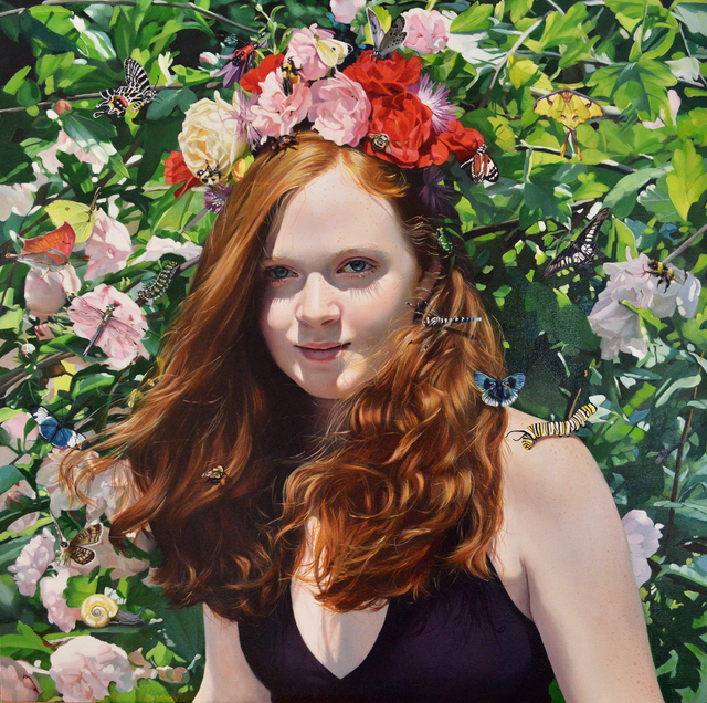 , 'When She Wears Flowers in Her Hair,' 2017, RJD Gallery