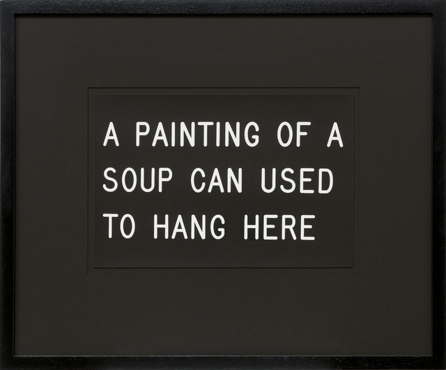 , 'A Painting of a Soup Can Used to Hang Here (233/250),' 1991, Bentley Gallery