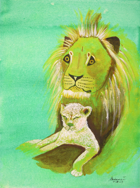 , 'Baby Lion and Father,' 2017, Fountain House Gallery