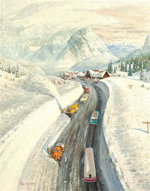 John Clymer, 'Clearing the Snow, Saturday Evening Post Cover', 1960, The Illustrated Gallery