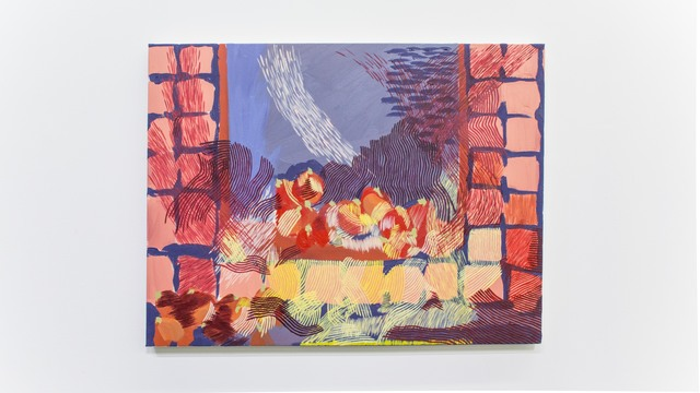 Derek Liddington, 'A windows ledge with ripening tomatoes on a day I cannot remember', 2018, Painting, Oil on canvas, Daniel Faria Gallery