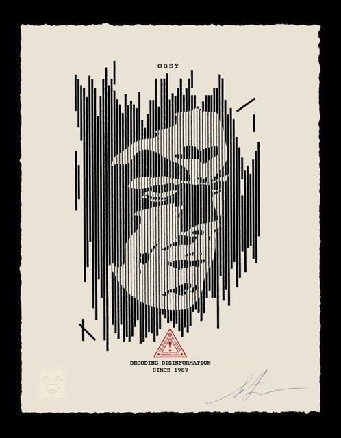 Shepard Fairey (OBEY), 'Decoding Disinformation Letterpress', 2017, AYNAC Gallery