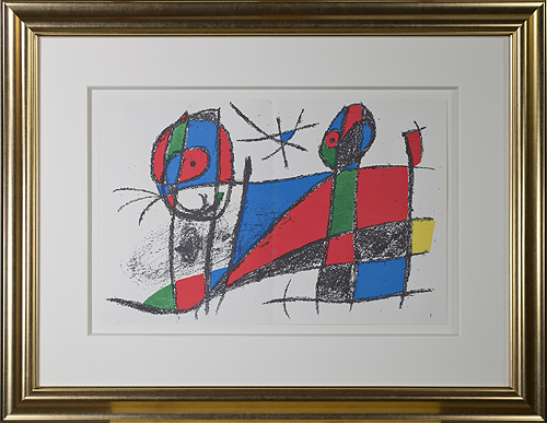 ", 'Original Lithograph VI from ""Miro Lithographs II, Maeght Publisher"",' 1975, David Barnett Gallery"