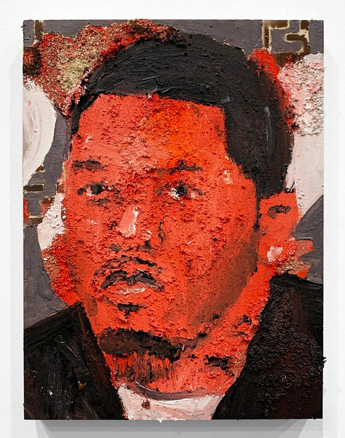 """Aaron Fowler, 'Gervonta """"The One"""" Davis', 2019, Mixed Media, Acrylic Paint, Spray Paint and Sand on Wood, Food Bank For New York City Benefit Auction"""