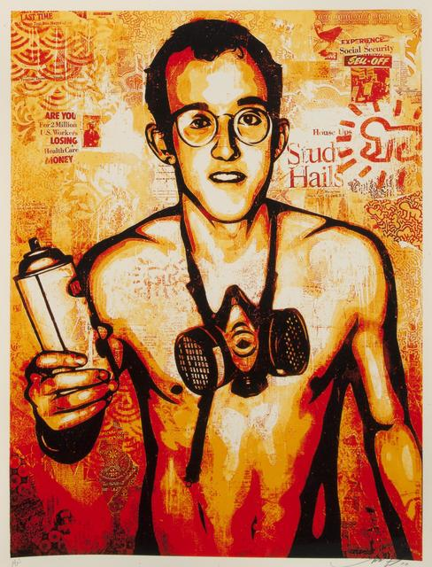 Shepard Fairey (OBEY), 'Keith Haring', 2010, Julien's Auctions