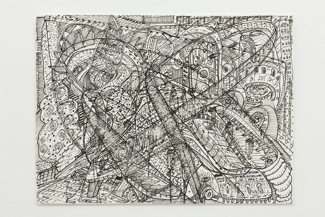 Milton Machado, 'Rivera meets Rockefeller in hell', 2009, Drawing, Collage or other Work on Paper, Indian ink on PEARL paper, Nara Roesler