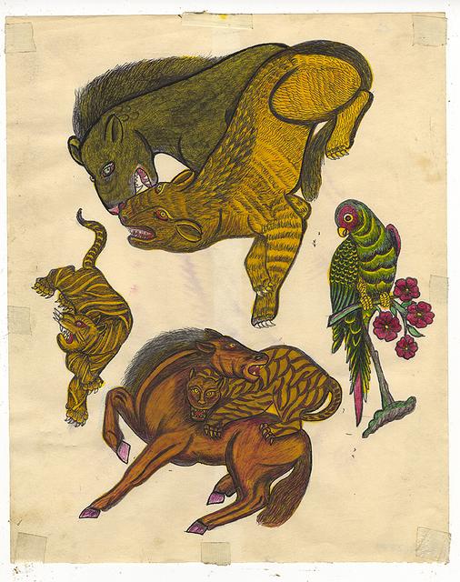 , 'Untitled (Tiger Attacking Horse),' ca. 1950, Ricco/Maresca Gallery