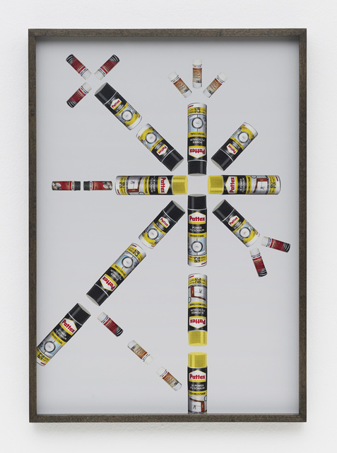 , 'Hardware Store Collage – Bauhaus Spray Cans # 1,' 2013, Barbara Wien