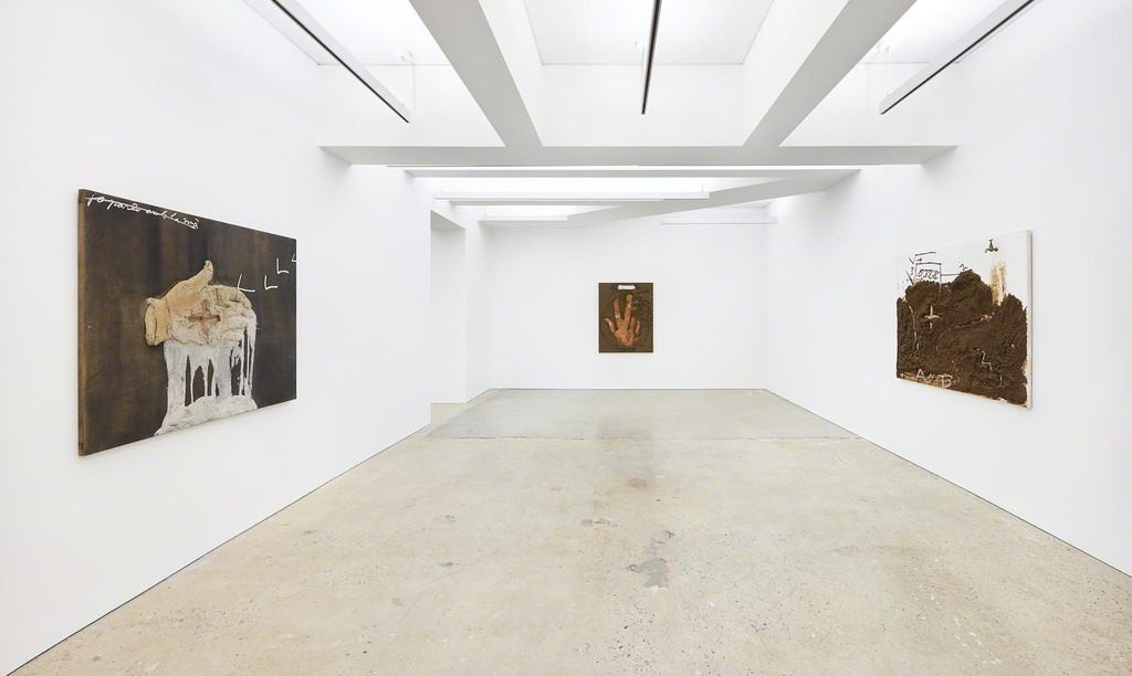 TÀPIES: PAINTINGS, 1970-2003 at Nahmad Contemporary. Photographs by Tom Powel Imaging.