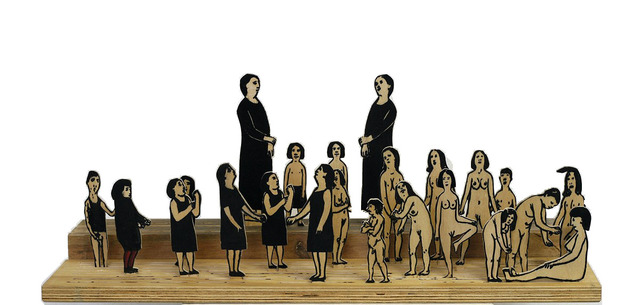 , 'Struggle of the Dressed and the Naked,' 2014, Shtager Gallery