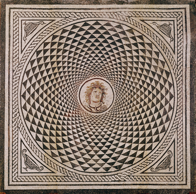 'Mosaic Floor with Head of Medusa', ca. 115 -150, J. Paul Getty Museum