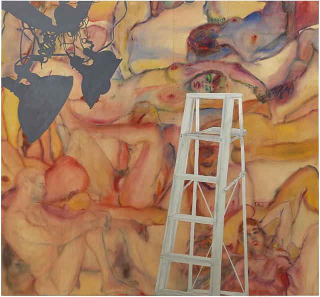Martha Edelheit, 'Flesh Wall with Ladder', 1965, Painting, Eric Firestone Gallery