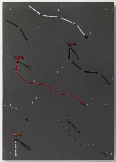 , 'Foldable Canes, Fake Painted Nails,' 2013, Galleri Nicolai Wallner