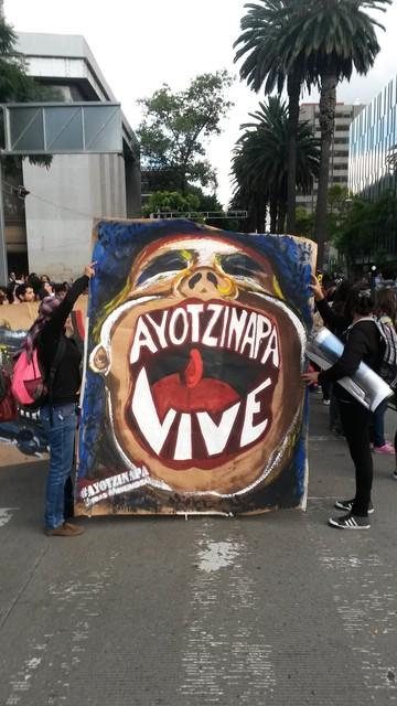 , 'Ayotzinapa vive! , Mexico City,2014.,' 2015, Roberto Alban Galeria de Arte