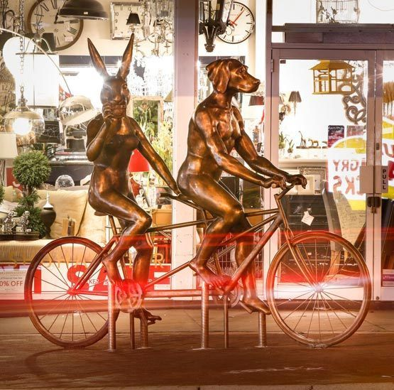 , 'Tandem Riders – Beaufort St, Perth,' , Gillie and Marc Art Gallery