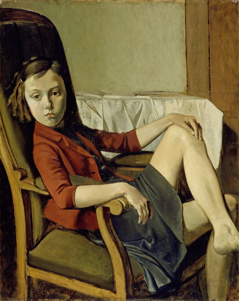 Balthus, Thérèse, 1938 Oil on cardboard on wood, 100.3 x 81.3 cm The Metropolitan Museum of Art, New York. Bequest of Mr. and Mrs. Allan D. Emil, in honor of William S. Lieberman, 1987 © Balthus, Photo: The Metropolitan Museum of Art/Art Resource/Scala, Florence