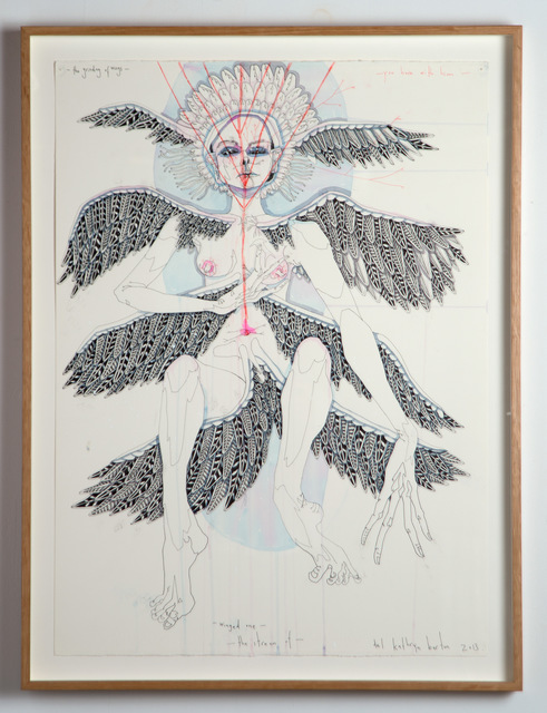 Del Kathryn Barton, 'the grinding of wings you have with him winged me the stream of', 2013, Roslyn Oxley9 Gallery