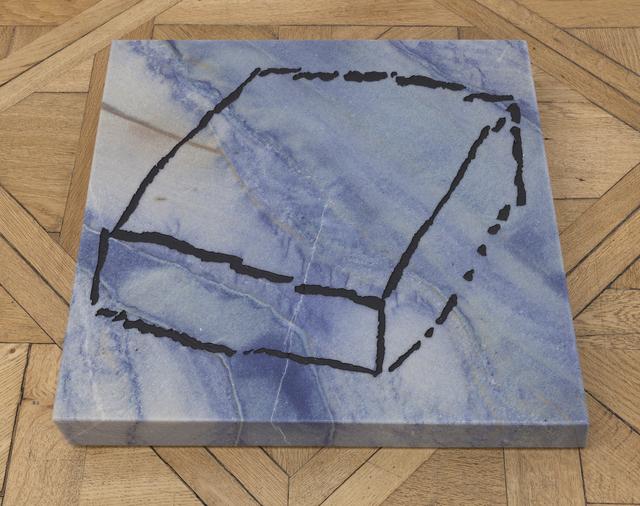 , 'Cube paléolithique 'Azul Bahia (1)',' 2017, Galerie nächst St. Stephan Rosemarie Schwarzwälder