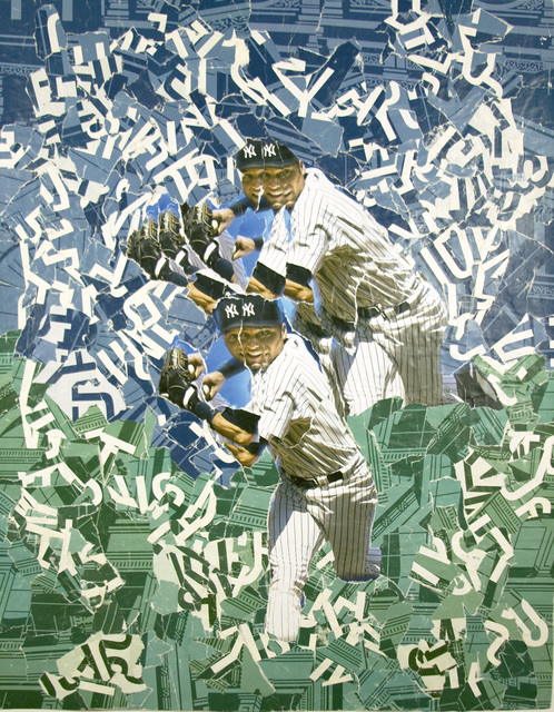 Michael Anderson, 'Derek Jeter 4 Luck 2009 World Series', 2009, Drawing, Collage or other Work on Paper, Collage from street posters, Marlborough New York