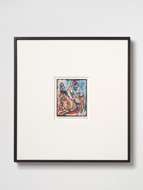 Rinus Van de Velde, 'Stop, stop now....', 2019, Drawing, Collage or other Work on Paper, Color pencil on paper, framed, KÖNIG GALERIE