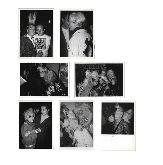 Andy Warhol, 'UNIQUE Set of Seven Patrick McMullan photographs, 1980's, Featuring Keith HARING / Andy WARHOL / Benjamin LIU / John SEX at the Palladium & Tunnel Night Clubs NYC.', 1980's, Photography, C-Print B/W on glossy Kodak photo paper., VINCE fine arts/ephemera