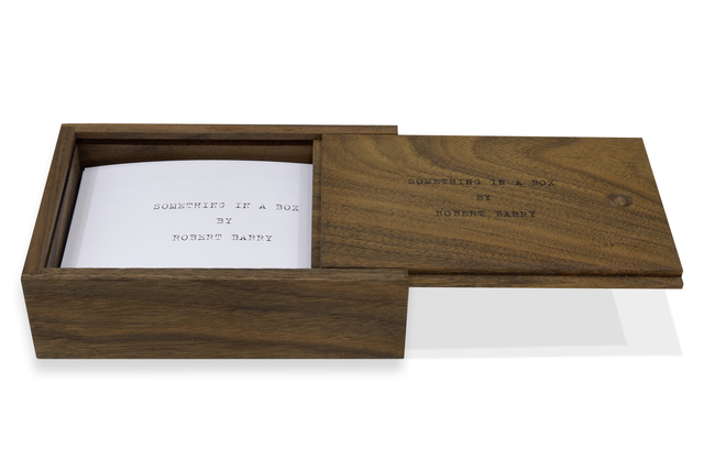 Robert Barry, 'Something in a box', 2014, mfc - michèle didier