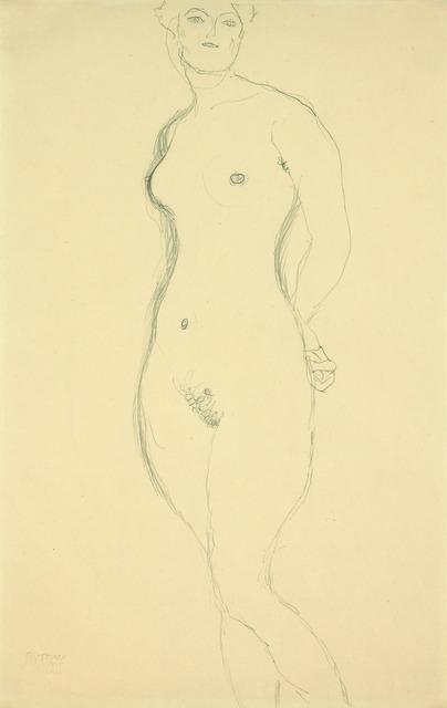 , 'Standing Nude,' 1916, Galerie Bei Der Albertina Zetter
