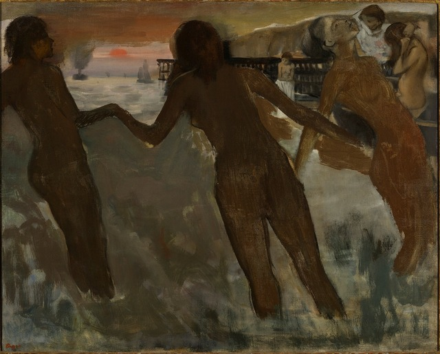 , 'Peasant Girls bathing in the Sea at Dusk,' 1869-1875, The National Gallery, London