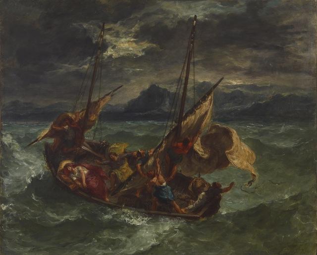 Eugène Delacroix, 'Christ on the Sea of Galilee', 1854, Walters Art Museum