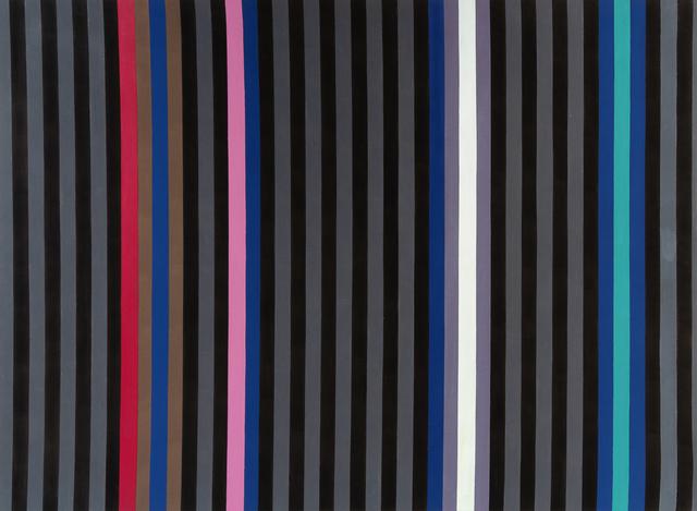 Gene Davis, 'Black Jack', 1980, Painting, Acrylic on canvas, Hindman