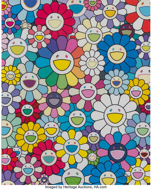 Takashi Murakami, 'A Field of FlowersSeen from the Stairs to Heaven', 2018, Heritage Auctions