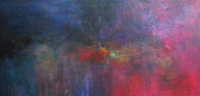 MD Tokon, 'Moonlight lillies', 2016, Painting, Acrylic on Canvas, Isabella Garrucho Fine Art