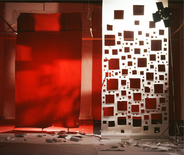 , '(No. 788) Red with Light from Holes in White,' 2009, Gavlak
