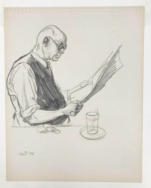 William Sharp, 'Man Reading Newspaper', 1941, Doyle